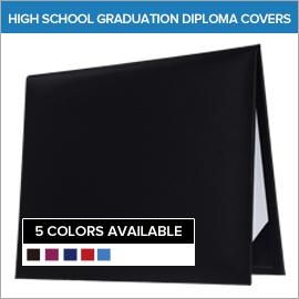High School Blank Graduation Diploma Cover   Gradshop