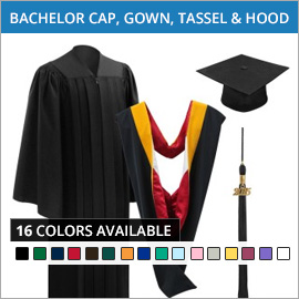 Bachelor Caps, Gowns,Tassels & Hoods
