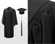 Deluxe Bachelor Graduation Caps, Gowns & Tassels