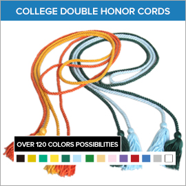 College Double and Two Color Honor Cords | Gradshop