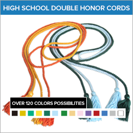 High School Double Color Honor Cords | Gradshop