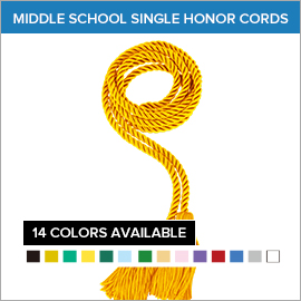 Middle School Graduation Sigle Honor Cords