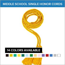 Middle School Single Color Honor Cords | Gradshop