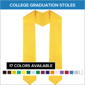 College Graduation Plain Stoles