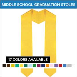 Middle School Plain Stoles | Gradshop
