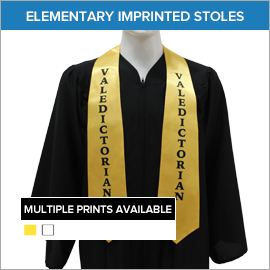 Elementary Imprinted and Printed Stoles | Gradshop