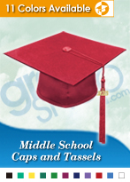 Middle School Graduation Caps & Tassels