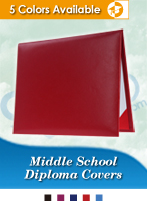 Middle School Graduation Diploma Covers