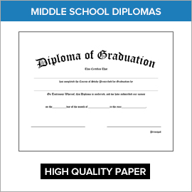 Middle School Diplomas