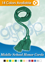 Middle School Graduation Honor Cords