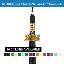 Middle School Graduation One Color Tassels