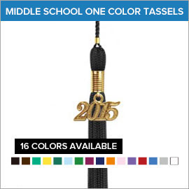Middle School One Color Tassels | Gradshop