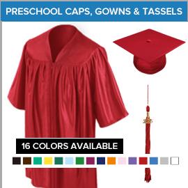 Preschool  Caps, Gowns & Tassels