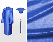 Shiny High School Graduation Caps, Gowns & Tassels