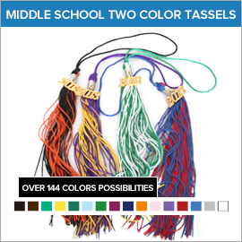 Middle School Graduation Two Color Tassels