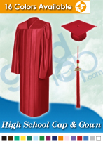 High School Graduation Caps, Gowns & Tassels