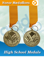 High School Graduation Medals