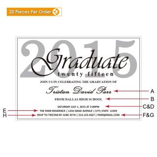Classic High School Graduation Announcement