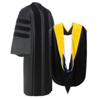 Deluxe Doctoral Academic Gown & Hood Package