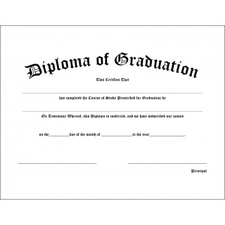High School Graduation Diploma