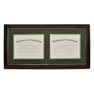 High School Horizontal Double Document Diploma Frame