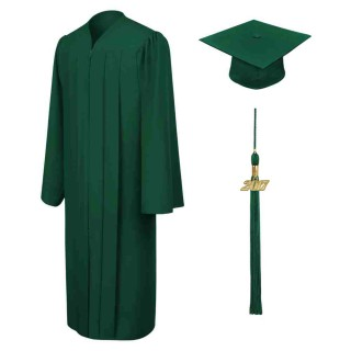 Matte Hunter High School  Cap, Gown & Tassel