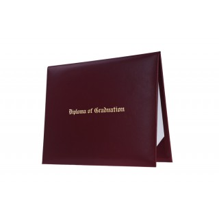 Maroon Imprinted High School Diploma Cover