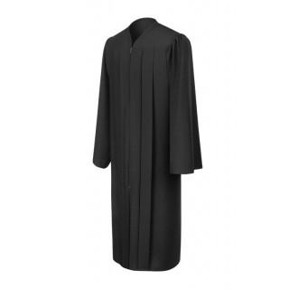 Matte Black High School Gown