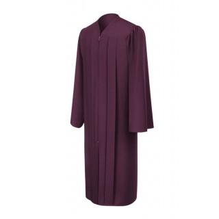 Matte Maroon Middle School Gown