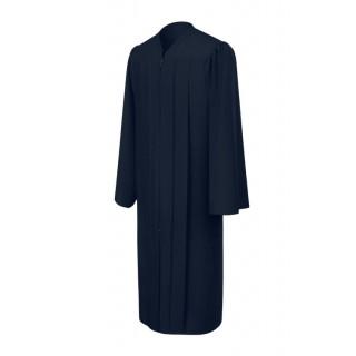 Matte Navy Blue High School Gown