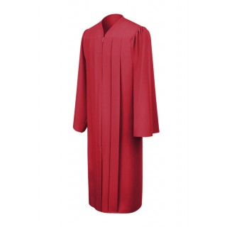 Matte Red Middle School Gown