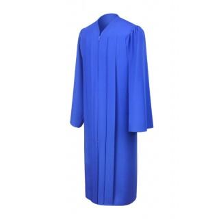 Matte Royal Blue High School Gown