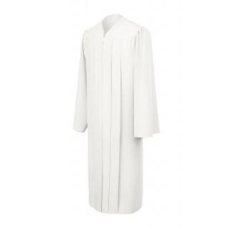 Matte White Bachelor Gown