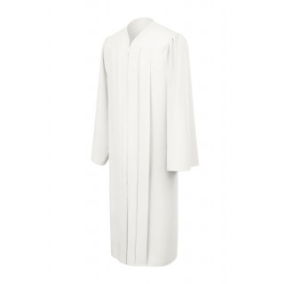 Matte White Bachelor Academic Gown