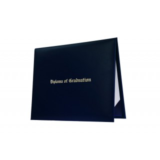 Navy Blue Imprinted Middle School Diploma Cover