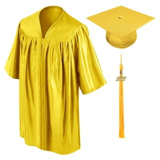 Gold Preschool Cap, Gown & Tassel