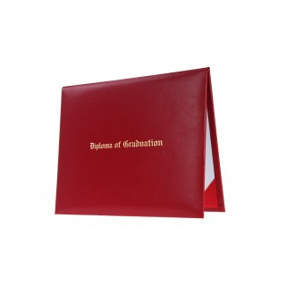Red Imprinted High School Diploma Cover