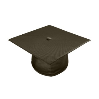 Shiny Brown Elementary Cap