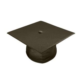 Shiny Brown High School Cap