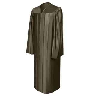 Shiny Brown Bachelor Gown