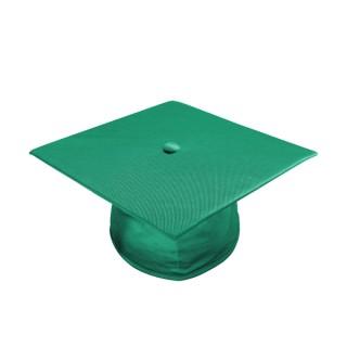 Shiny Emerald Green High School Cap
