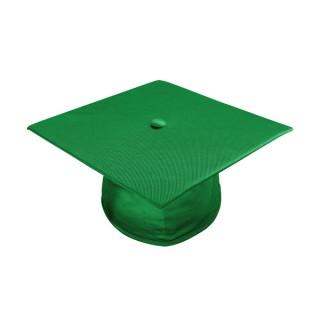 Shiny Green Bachelor Academic Cap