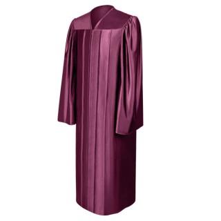 Shiny Maroon High School Gown
