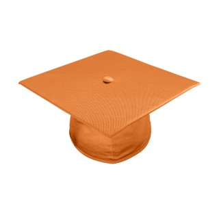 Shiny Orange Bachelor Academic Cap