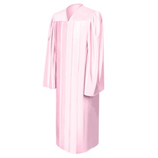 Shiny Pink Bachelor Academic Gown