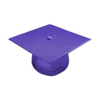 Shiny Purple High School Cap