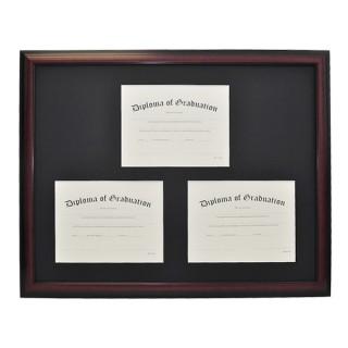 High School Triple Document Diploma Frame