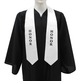 White High School Honor Stole