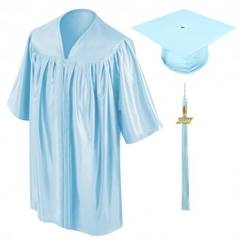 Light Blue Kindergarten Cap, Gown & Tassel