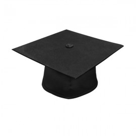 Matte Black Bachelor Cap